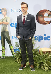 Jason Sudeikis chose a pair of classic dark-wash jeans for a more relaxed look at the screening of 'Epic' in NYC.