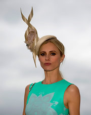 Laura Bailey didn't hold back on her headwear at Ladies Day of the Epsom Races.