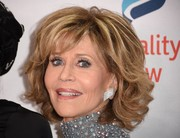 Jane Fonda styled her hair into a curled-out bob for the Make Equality Reality Gala.