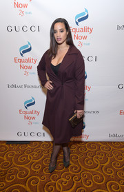 Dascha Polanco completed her ensemble with a perspex box clutch.