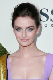 Lydia Hearst wore her hair in a poofy updo during Esquire's Mavericks of Hollywood event.