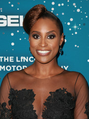 Issa Rae sported a lopsided bun at the Essence Black Women in Hollywood Awards.