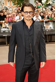 Long bangs give Johnny Depp a more artistic look on the red carpet.