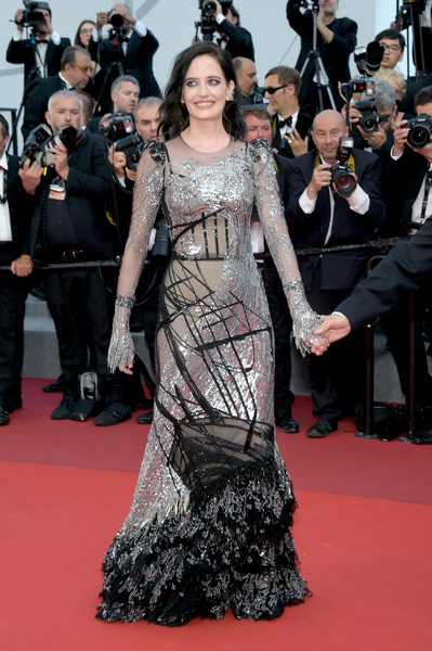 Eva Green Sequin Dress [based on a true story,flooring,fashion model,carpet,fashion,gown,dress,red carpet,girl,haute couture,premiere,eva green,cannes,france,cannes film festival,screening,palais des festivals]