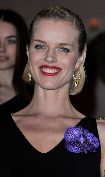 Eva Herzigova Short Side Part [eva herzigova collection,hair,face,eyebrow,lip,beauty,hairstyle,chin,cheek,blond,ear,eva herzigova,collection,paris,france,party,launch party]