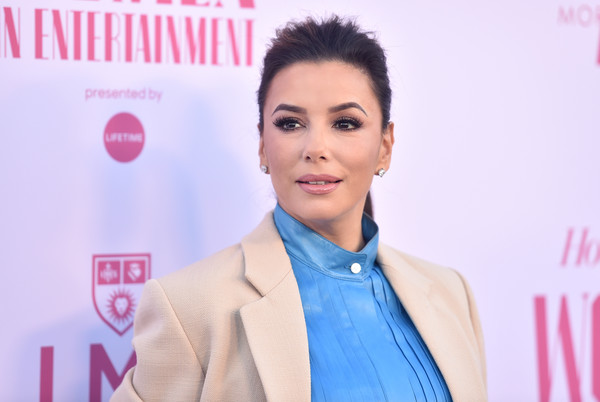 Eva Longoria Ponytail [the hollywood reporter,hair,face,skin,hairstyle,chin,eyebrow,beauty,forehead,cheek,pink,power 100 women in entertainment,eva longoria,power 100 women in entertainment,hollywood,california,hollywood reporter,milk studios]