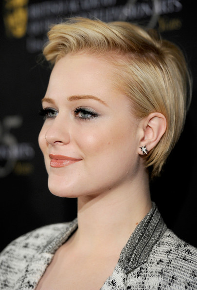 Evan Rachel Wood Short Side Part [red carpet,hair,face,hairstyle,blond,eyebrow,chin,lip,beauty,ear,forehead,evan rachel wood,los angeles,beverly hills,california,four seasons hotel,bafta,los angeles 18th annual awards season tea party]