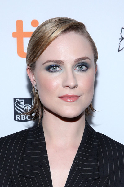 Evan Rachel Wood Side Parted Straight Cut [a worthy companion premiere,hair,face,hairstyle,eyebrow,lip,blond,chin,beauty,forehead,cheek,evan rachel wood,toronto,canada,scotiabank theatre,toronto international film festival,premiere]