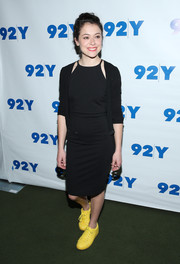 Tatiana Maslany paired her LBD with a matching cardigan.