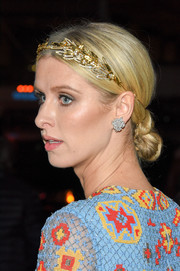 Nicky Hilton complemented her updo with a lovely pair of diamond cluster studs.