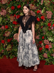 Jenna-Louise Coleman looked sultry in a sheer black lace top by Dior at the 2018 Evening Standard Theatre Awards.