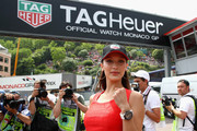 Bella Hadid continued the sporty vibe with a Tag Heuer watch.