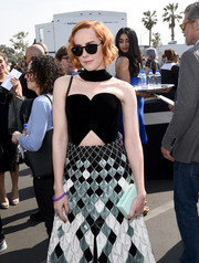 Jena Malone arrived for the 2015 Film Independent Spirit Awards wearing a pair of cateye sunnies.