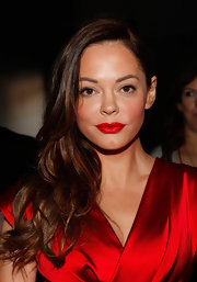 Rose McGowan's lips made a real statement at the Donna Karan Spring 2012 fashion show. To recreate her pretty pout, we recommend NARS Lipstick in Jungle Red, Dior Addict Lipstick in Red Carpet 963 or Covergirl LipPerfection Lipcolor in Hot 305.