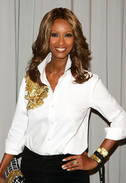 Iman wore pale pink polish to FIT's 4th Annual Artistry of Fashion Award luncheon. The look was perfectly pretty.