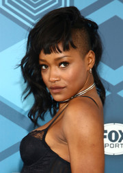 Keke Palmer rocked half-shaved waves with blunt bangs at the Fox 2016 Upfront.