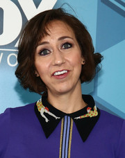 Kristen Schaal opted for a feathery bob when she attended the Fox 2016 Upfront.