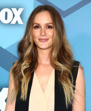 Leighton Meester went hippie with these long center-parted waves for the Fox 2016 Upfront.