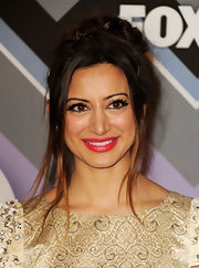 Noureen DeWulf looked great with her red lips at the All Star Party.