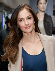 Minka Kelly attended the Almost Human-hattan event wearing her hair down with soft waves.