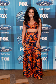 Jordin Sparks looked all set for summer in her printed bra top while attending the 'American Idol' finale.