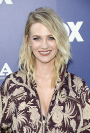 January Jones looked cool and trendy with her piecey layered cut at the Fox Summer TCA Press Tour.