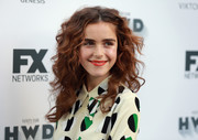 Kiernan Shipka attended the FX and Vanity Fair Emmy celebration wearing her hair in tousled curls.