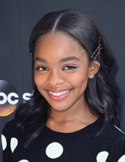 Marsai Martin looked sweet and pretty with her bobby-pinned waves at the 'Black-ish' FYC event.