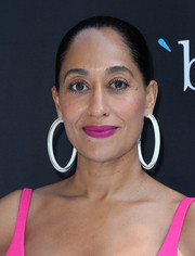 Tracee Ellis Ross punched up her look with a pair of oversized jelly hoops by Alison Lou.