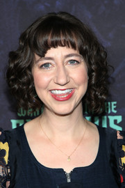 Kristen Schaal styled her hair into a curled-out bob with rounded bangs for the 'What We Do in the Shadows' FYC event.