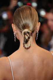Natasha Poly showed off an artfully done twisted chignon at the Cannes Film Festival screening of 'In the Fade.'