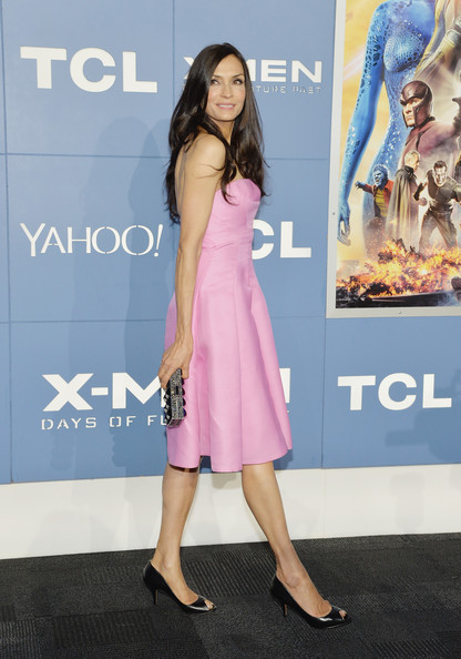 Famke Janssen Strapless Dress