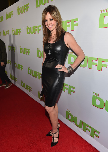 Allison Janney added an extra dose of edge with a pair of black Valentino Rockstud pumps.