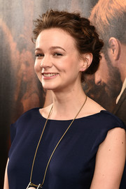 Carey Mulligan looked adorable with her loose updo (not to mention that super-sweet smile) at the New York special screening of 'Far From the Madding Crowd.'