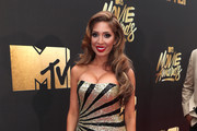 Farrah Abraham Strapless Dress