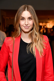 Whitney Port wore her hair in hippie waves at the Fashion Awards 2017 nominees reception.