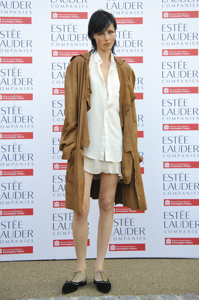 Edie Campbell unleashed her inner cowgirl with this knee-length suede jacket.
