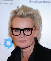 Eva Dahlgren sported a tousled short 'do when she attended the Fashion World of Jean Paul Gaultier reception.