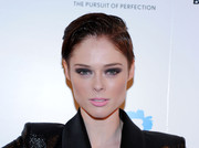 Coco Rocha went for a bold beauty look with smoky eye makeup when she attended the Fashion World of Jean Paul Gaultier reception.