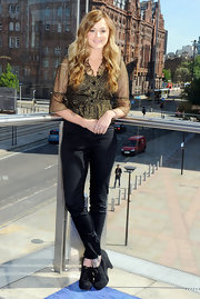Ferne Cotton showed off her wavy curls while attending a photocall in England.