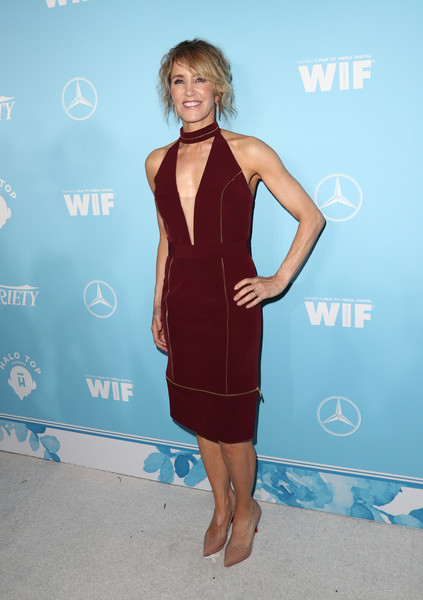 Felicity Huffman Halter Dress
