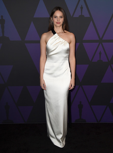 Felicity Jones One Shoulder Dress