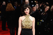 Felicity Jones Halter Dress