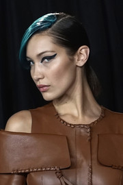 Bella Hadid looked striking with her thick cat eyes.