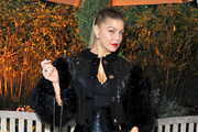 Fergie Wears Leather and Fur Louis Vuitton Jacket to the amfAR Inspiration Gala