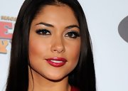 Arianny Celeste accented her eyes with lots of shimmery shadow and a long, luxurious set of false lashes for the 2011 Fighters Only World Mixed Martial Arts Awards.