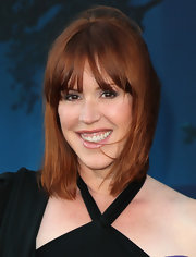 Molly Ringwald kept it simple but charming with a straight 'do and center-parted bangs.