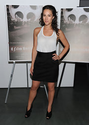 America Olivo wore trendy purple nail polish to the 'A Film Unfinished' premiere.