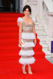 Penelope Cruz looked breathtaking in a beaded and feathered dress by Ralph & Russo Couture at the UK premiere of 'Pain and Glory.'