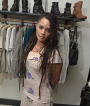 Lisa Bonet rocked ultra-long dreadlocks during the Fiorentini + Baker spring preview and private shopping event.